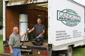Genoa City Heating & Cooling Truck & Employees